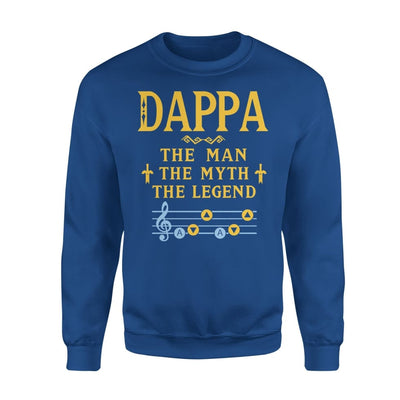 Dappa The Man Myth and Legend - Gaming Dad Grandpa Fathers Day Gift For - Standard Fleece Sweatshirt - S / Royal