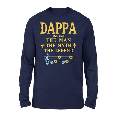 Dappa The Man Myth and Legend - Gaming Dad Grandpa Fathers Day Gift For - Standard Long Sleeve - S / Navy