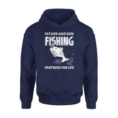 Father And Son Fishing Partners For Life Dad Christmas Gift - Standard Hoodie - S / Navy