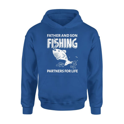 Father And Son Fishing Partners For Life Dad Christmas Gift - Standard Hoodie - S / Royal
