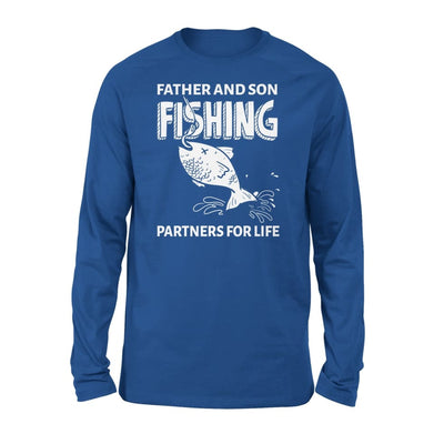 Father And Son Fishing Partners For Life Dad Christmas Gift - Standard Long Sleeve - S / Royal