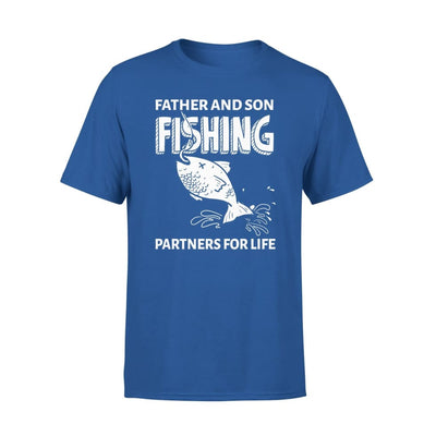 Father And Son Fishing Partners For Life Dad Christmas Gift - Standard Tee - S / Royal