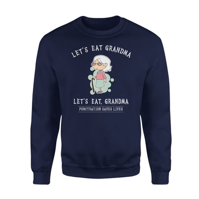 Funny Grandma Shirt - Best Gift for - Standard Fleece Sweatshirt - S / Navy