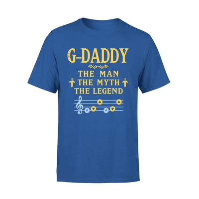 G-daddy The Man Myth and Legend - Gaming Dad Grandpa Fathers Day Gift For - Standard Tee - S / Royal