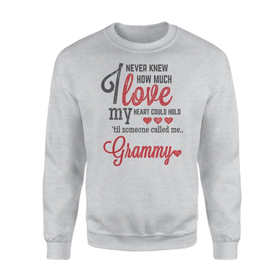 Grammy Gift How Much Love My Heart - Standard Fleece Sweatshirt - S / Grey