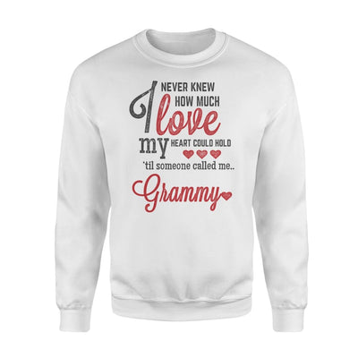 Grammy Gift How Much Love My Heart - Standard Fleece Sweatshirt - S / White