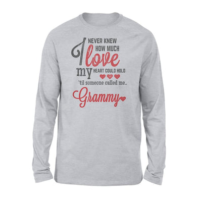 Grammy Gift How Much Love My Heart - Standard Long Sleeve - S / Grey