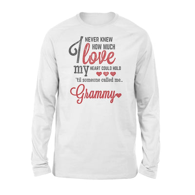 Grammy Gift How Much Love My Heart - Standard Long Sleeve - S / White