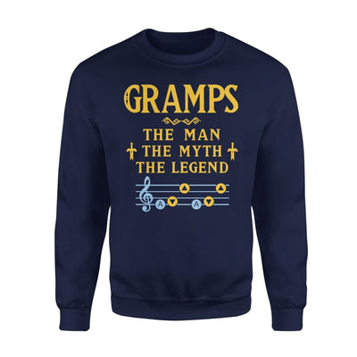 Gramps The Man Myth and Legend - Gaming Dad Grandpa Fathers Day Gift For - Standard Fleece Sweatshirt - S / Navy