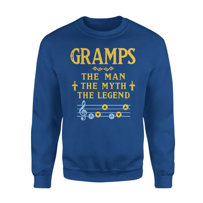 Gramps The Man Myth and Legend - Gaming Dad Grandpa Fathers Day Gift For - Standard Fleece Sweatshirt - S / Royal