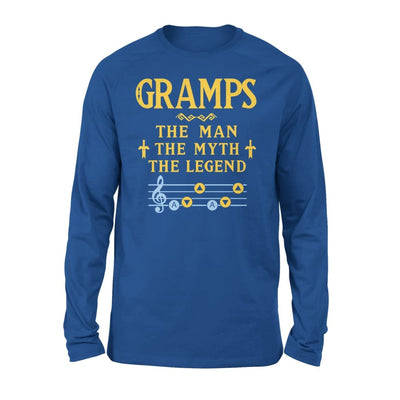 Gramps The Man Myth and Legend - Gaming Dad Grandpa Fathers Day Gift For - Standard Long Sleeve - S / Royal