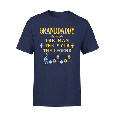 Granddaddy The Man Myth and Legend - Gaming Dad Grandpa Fathers Day Gift For - Standard Tee - S / Navy
