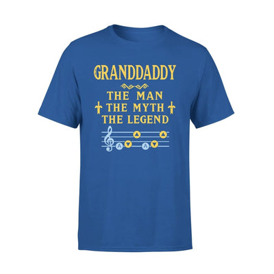 Granddaddy The Man Myth and Legend - Gaming Dad Grandpa Fathers Day Gift For - Standard Tee - S / Royal