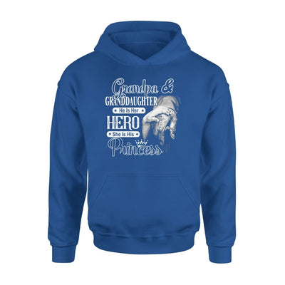 Grandpa and Granddaughter He is Her Hero She His Princess - Standard Hoodie - S / Royal