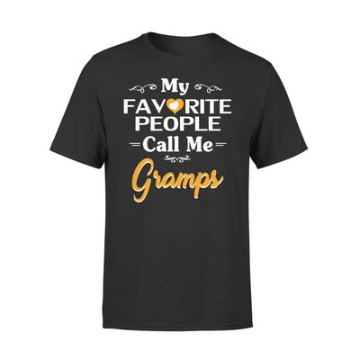 Grandpa Gift My Favorite People Call me Gramps Mens for Fathers day 2020 - Premium Tee - XS / Black
