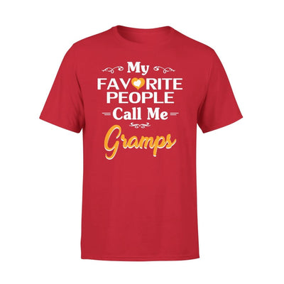 Grandpa Gift My Favorite People Call me Gramps Mens for Fathers day 2020 - Premium Tee - XS / Red