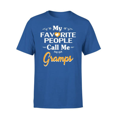 Grandpa Gift My Favorite People Call me Gramps Mens for Fathers day 2020 - Premium Tee - XS / Royal