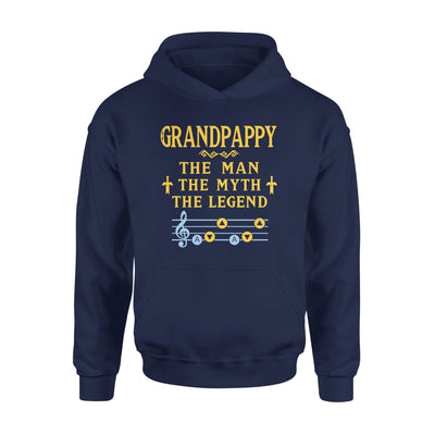 Grandpappy The Man Myth and Legend - Gaming Dad Grandpa Fathers Day Gift For - Standard Hoodie - S / Navy