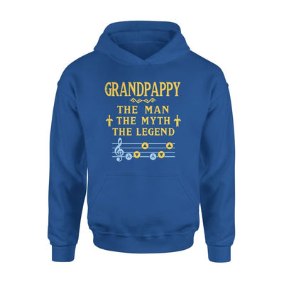 Grandpappy The Man Myth and Legend - Gaming Dad Grandpa Fathers Day Gift For - Standard Hoodie - S / Royal