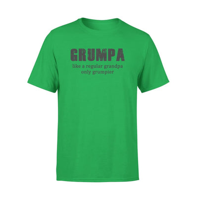 Grumpa Like regular Grandpa only grumpier - Fathers Day Gift - Funny Saying - Standard Tee - S / Kelly