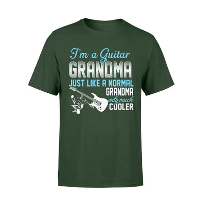 Guitar Grandma Just Like A Normal Only Much Cooler Gift For Mother Mama - Standard T-shirt - S / Forest
