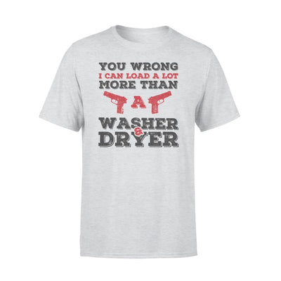 I Can Load More Than A Washer Dryer - Standard Tee - S / Grey