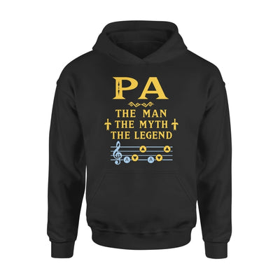 Pa The Man Myth and Legend - Gaming Dad Grandpa Fathers Day Gift For - Standard Hoodie - S / Black