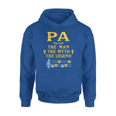 Pa The Man Myth and Legend - Gaming Dad Grandpa Fathers Day Gift For - Standard Hoodie - S / Royal