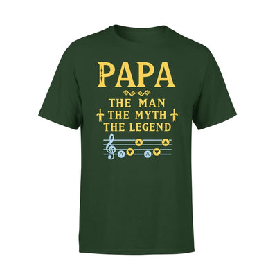 Papa The Man Myth and Legend - Gaming Dad Grandpa Fathers Day Gift For - Premium Tee - XS / Forest