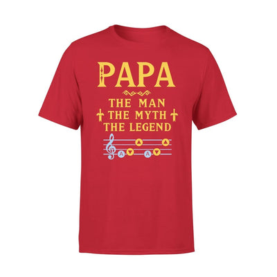 Papa The Man Myth and Legend - Gaming Dad Grandpa Fathers Day Gift For - Premium Tee - XS / Red