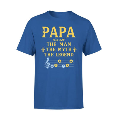 Papa The Man Myth and Legend - Gaming Dad Grandpa Fathers Day Gift For - Standard Tee - S / Royal
