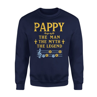 Pappy The Man Myth and Legend - Gaming Dad Grandpa Fathers Day Gift For - Standard Fleece Sweatshirt - S / Navy