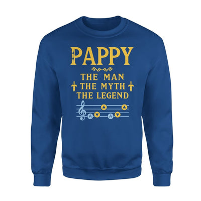 Pappy The Man Myth and Legend - Gaming Dad Grandpa Fathers Day Gift For - Standard Fleece Sweatshirt - S / Royal