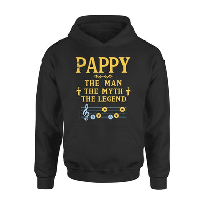 Pappy The Man Myth and Legend - Gaming Dad Grandpa Fathers Day Gift For - Standard Hoodie - S / Black