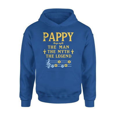 Pappy The Man Myth and Legend - Gaming Dad Grandpa Fathers Day Gift For - Standard Hoodie - S / Royal