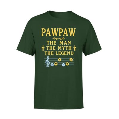 Pawpaw The Man Myth and Legend - Gaming Dad Grandpa Fathers Day Gift For - Premium Tee - XS / Forest