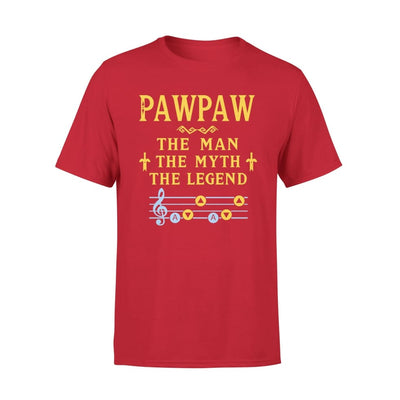 Pawpaw The Man Myth and Legend - Gaming Dad Grandpa Fathers Day Gift For - Premium Tee - XS / Red