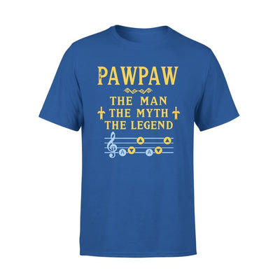 Pawpaw The Man Myth and Legend - Gaming Dad Grandpa Fathers Day Gift For - Premium Tee - XS / Royal