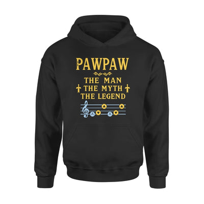 Pawpaw The Man Myth and Legend - Gaming Dad Grandpa Fathers Day Gift For - Standard Hoodie - S / Black