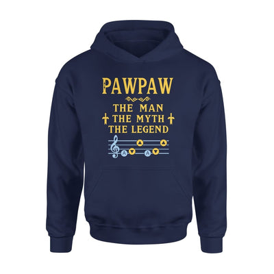 Pawpaw The Man Myth and Legend - Gaming Dad Grandpa Fathers Day Gift For - Standard Hoodie - S / Navy