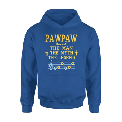 Pawpaw The Man Myth and Legend - Gaming Dad Grandpa Fathers Day Gift For - Standard Hoodie - S / Royal