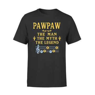 Pawpaw The Man Myth and Legend - Gaming Dad Grandpa Fathers Day Gift For - Standard Tee - S / Black