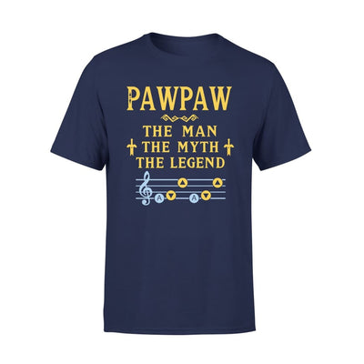Pawpaw The Man Myth and Legend - Gaming Dad Grandpa Fathers Day Gift For - Standard Tee - S / Navy