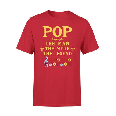 Pop The Man Myth and Legend - Gaming Dad Grandpa Fathers Day Gift For - Premium Tee - XS / Red