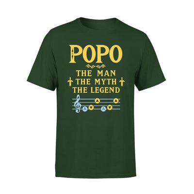 Popo The Man Myth and Legend - Gaming Dad Grandpa Fathers Day Gift For - Premium Tee - XS / Forest