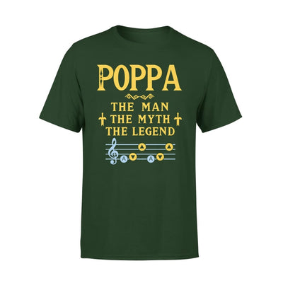 Poppa The Man Myth and Legend - Gaming Dad Grandpa Fathers Day Gift For - Premium Tee - XS / Forest