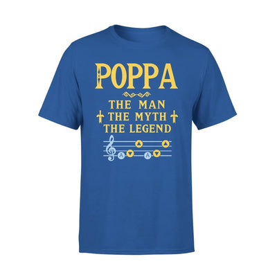 Poppa The Man Myth and Legend - Gaming Dad Grandpa Fathers Day Gift For - Standard Tee - S / Royal