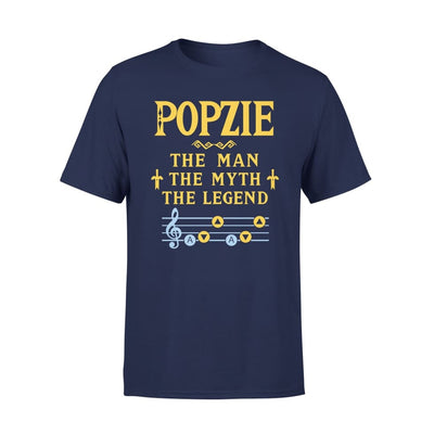 Popzie The Man Myth and Legend - Gaming Dad Grandpa Fathers Day Gift For - Premium Tee - XS / Navy