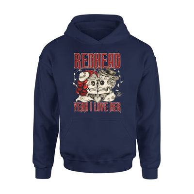 Redhead Say Yeah I Love Her Gift for Boyfriend Husband Hubby Husb - Standard Hoodie - S / Navy