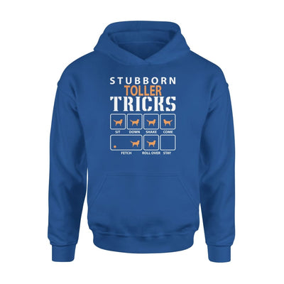 Stubborn Toller Tricks Funny Dog Gift - Standard Hoodie - S / Royal